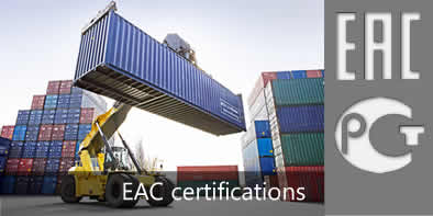 EAC certifications for Russia, Kazakhstan and Belarus